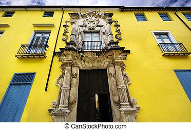 bâtiment, havane, vieux, maison, obrapia, façade