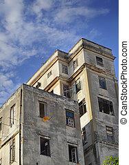 bâtiment, havane, vieux, mesquin