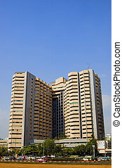 bâtiment, highrise