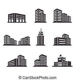 bâtiment, icône