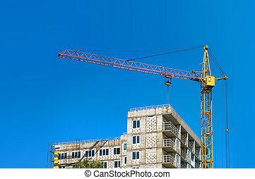 bâtiment, image, construction, sous, ville