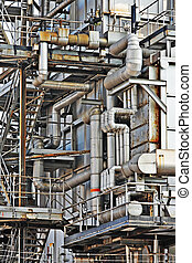 bâtiment industriel, acier, tuyau