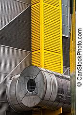 bâtiment, industriel, extérieur