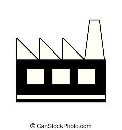bâtiment, industriel, usine
