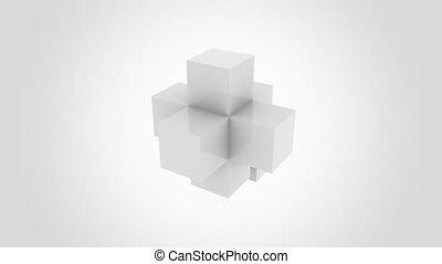 bâtiment, infinitely., graphiques, moderne, arrière-plan., ...