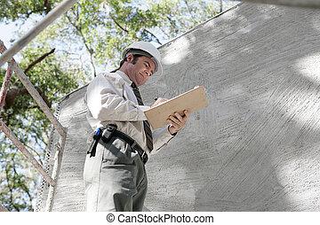 bâtiment, inspecteur, notes