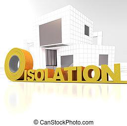 bâtiment, isolation, moderne