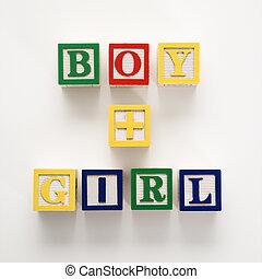 bâtiment, jouet, blocks.