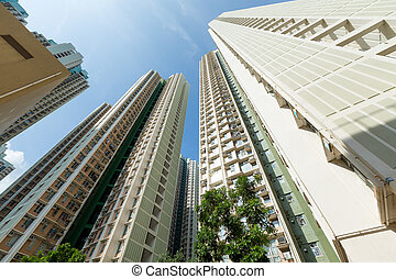 bâtiment, logement, public