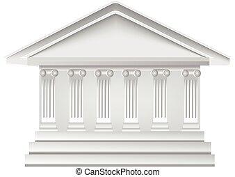 bâtiment, logo, blanc