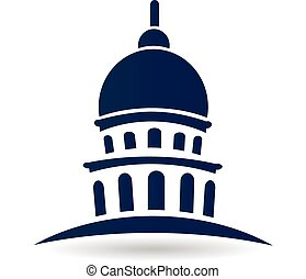 bâtiment, logo, capitole