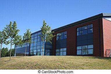 bâtiment, lowrise, bureau