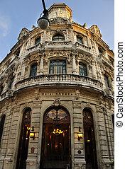 bâtiment, luxueux, façade, vieux, havane, cuba