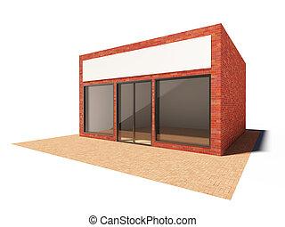 bâtiment, magasin