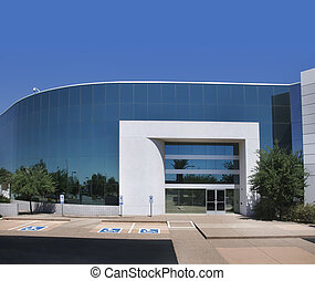 bâtiment, moderne, commercial, bureau