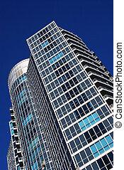 bâtiment, moderne, condominium