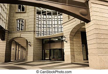 bâtiment, moderne, extérieur