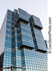 bâtiment, moderne, londres, vue