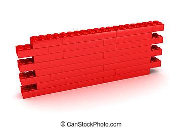 bâtiment, mur, bloc