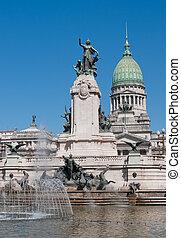 bâtiment national congrès, buenos aires, argentine