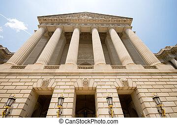 bâtiment, neo classique, gouvernement, washington dc