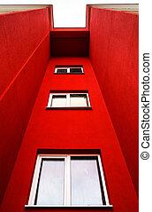 bâtiment, nouveau, appartements, typique, économie