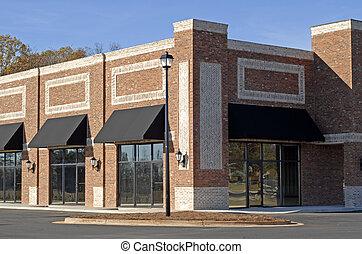 bâtiment, nouveau, commercial-retail-office