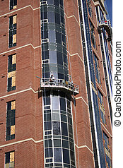 bâtiment, nouveau, condominium