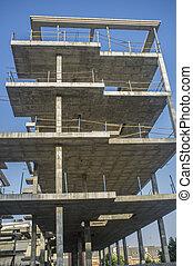 bâtiment, nouveau, construction, appartement, site