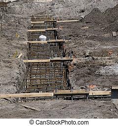 bâtiment, nouveau, construction