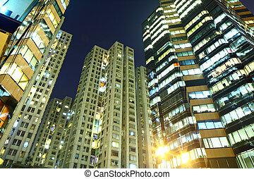 bâtiment, nuit