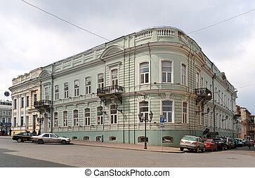 bâtiment, odessa, appartement, ukraine, centre