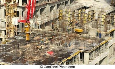 bâtiment, ostrov, propriété, ouvriers, losiniy, opération, sommet