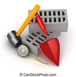bâtiment, outils
