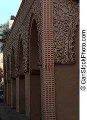 bâtiment, palace., style, est