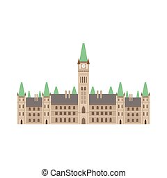 bâtiment, parlement, canadien, national, culture, symbole
