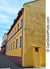 bâtiment, partie, minsk, vieux