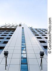 bâtiment, perspective, bureau