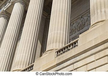 bâtiment, piliers