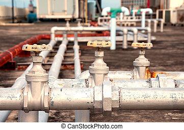 bâtiment, plomberie, canaux transmission, industriel