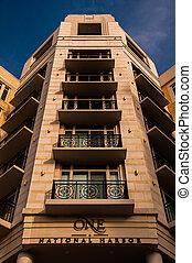bâtiment, port, national, appartement, maryland.