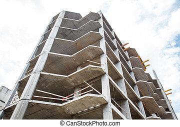bâtiment, résidentiel, construction, multi-storey, nouveau