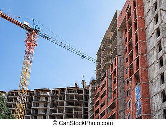bâtiment, résidentiel, construction