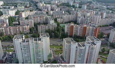 bâtiment, résidentiel, existant, infrastructure., cadre, monolithique, technologie, nouveau, secteur