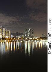 bâtiment, résidentiel, hong kong