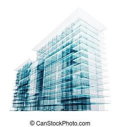 bâtiment, résumé, contemporain
