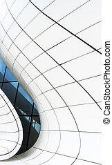 bâtiment, résumé, moderne, élément