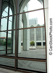 bâtiment, reflet