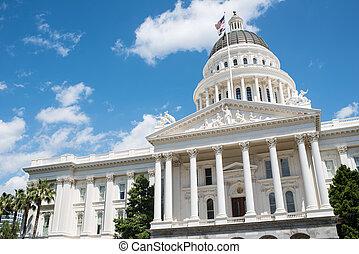 bâtiment, sacramento, état, californie, capitole