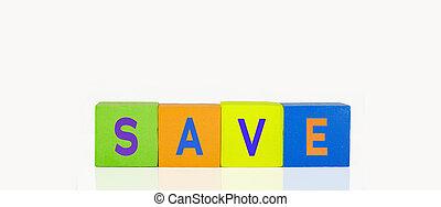 bâtiment, sauver, blocs jouet, coloré